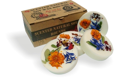 Natural soy wax scented rounds, 130g/4.6 oz - vanilla