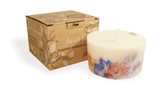 Soy wax candle with a cotton wick, 200 ml/7oz, colour line - white, without aroma