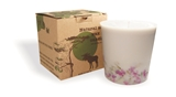 Soy wax candle with a cotton wick, 350 ml/12oz, colour line - grey