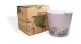 Soy wax candle with a cotton wick, 350 ml/12oz, colour line - lilac