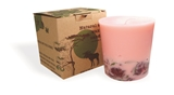 Soy wax candle with a cotton wick, 350 ml/12oz, colour line - pink