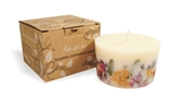 Soy wax candle with a cotton wick, 200 ml/7oz, colour line - white, cinnamon+orange