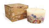 Soy wax candle with a cotton wick, 200 ml/7oz, colour line - white, green tea+may chang