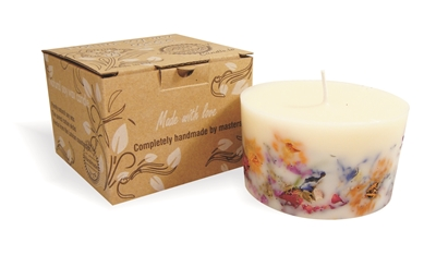 Soy wax candle with a cotton wick, 200 ml/7oz, colour line - white, lemon+ylang ylang