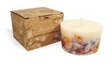 Soy wax candle with a cotton wick, 200 ml/7oz, colour line - white, vanilla