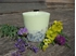 Soy wax candle with a cotton wick, 350 ml/12oz, colour line - green