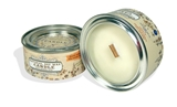 Exclusive interior soy wax candle with a wooden wick, 100ml/3.38 oz - cinnamon+orange